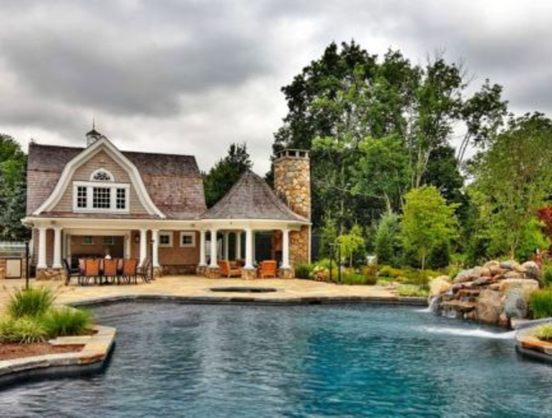 Fairfield county connecticut pool house designs you will for Home plans with pools