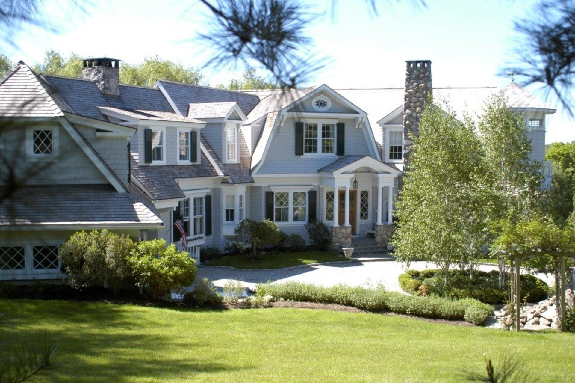 shingle style custom home wilton ct site visit - Home Design Site